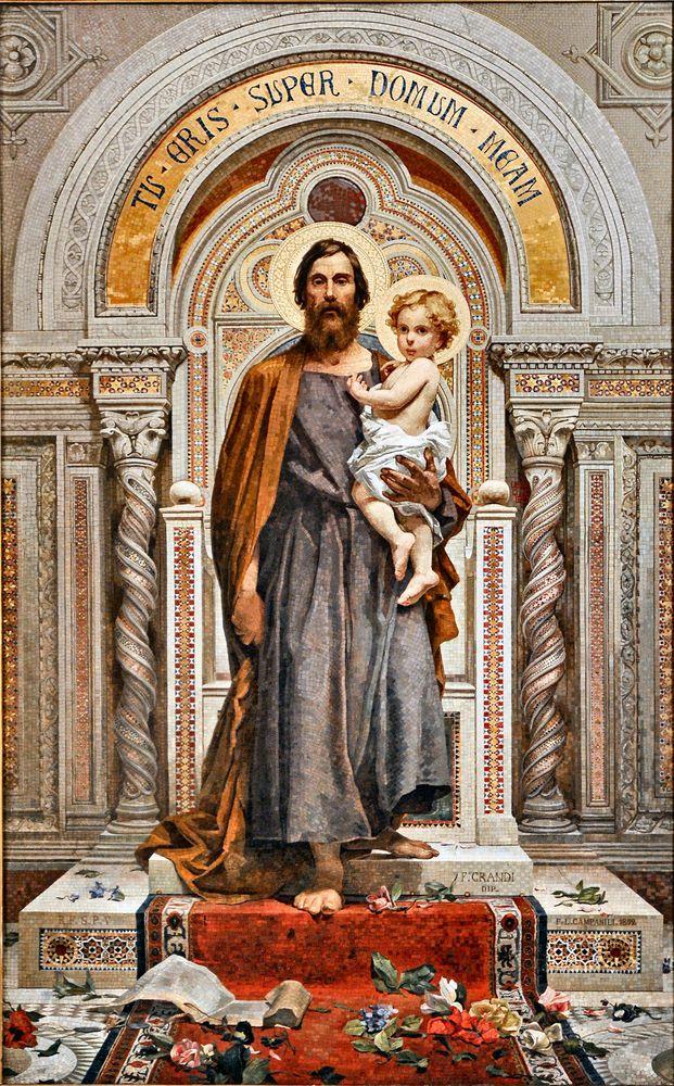 St Joseph Framed Art Print By Filmtvposters Vector Black Medium Gallery 20x26 Saint Joseph Art Catholic Pictures St Joseph Catholic