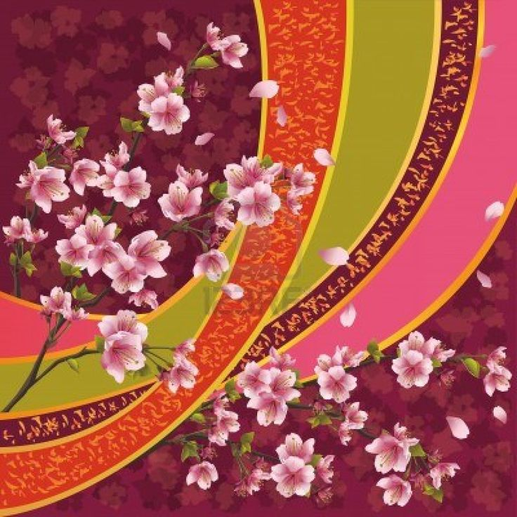 Oriental fabric design.