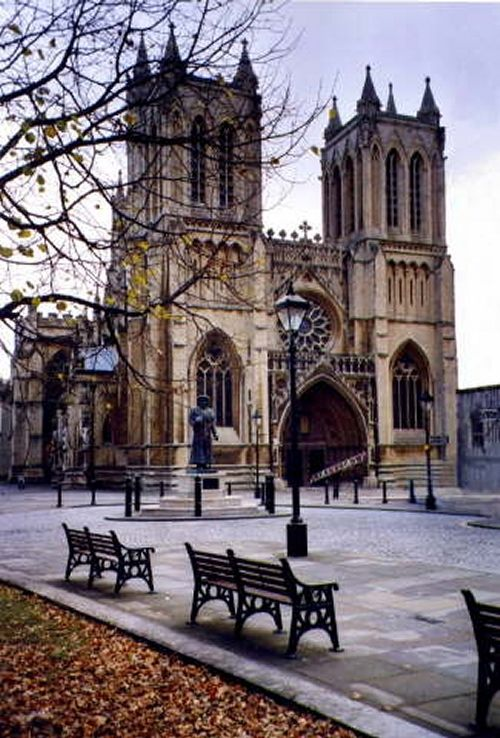 Bristol Cathedral, England, built in 1240