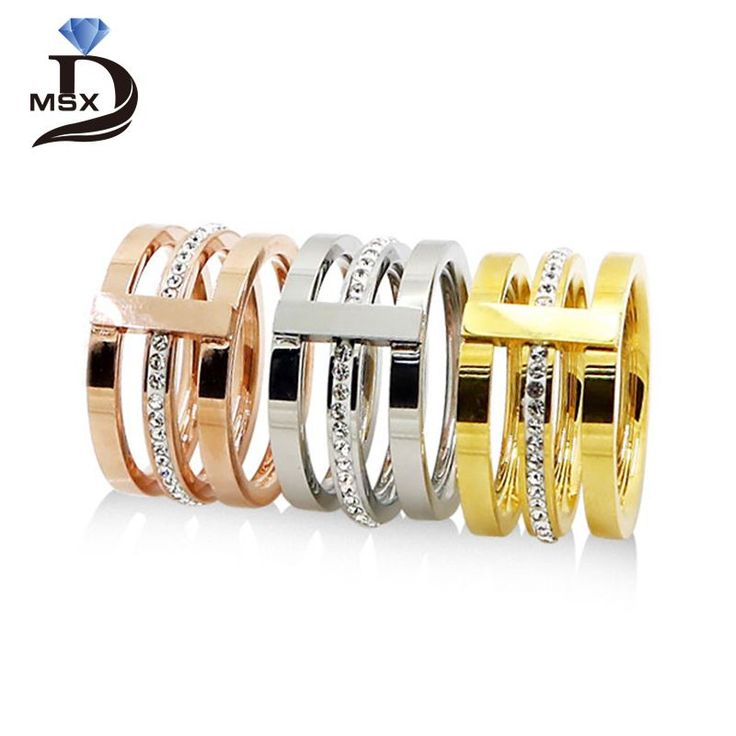 Find More Rings Information about Wholesale 2016 Three Layers Zircon Stainless Steel Titanium Ring For Men Women CZ Crystal ring Band Jewelry Custom Accessories,High Quality steel cz ring,China steel rings hardware Suppliers, Cheap steel round ring from JINHUI on Aliexpress.com