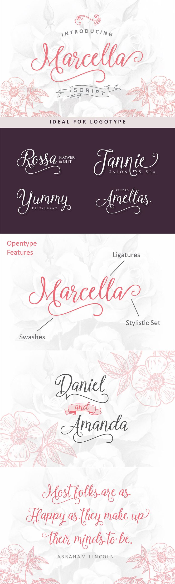 24 Exceptional Quality Fonts   July 2015   Marcella Script Font by Ian Mikraz   purchased from Design Cuts