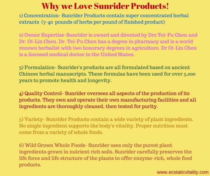 Reasons why Sunrider products are Simply The Best!!
