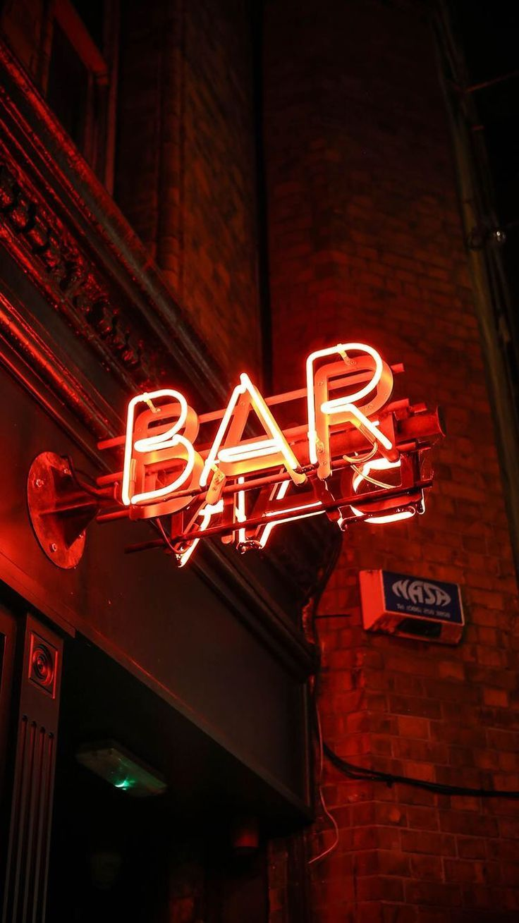 Neon sign photography, ART sign, red neon lights, reflection, urban architecture, city photography, art school, art print, the word art