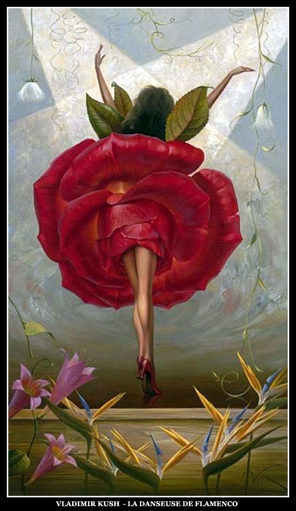 Vladimir Kush - La danseuse de flamenco                                                                                                                                                      Plus