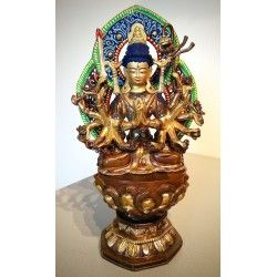 Cundi Bodhisattva beeld brons, gold plated