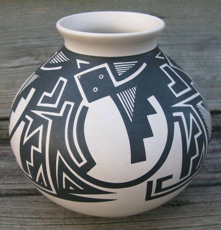 Vintage Casas Grandes pottery Mata Ortiz Pueblo hand made olla 6x6in #3409 in | eBay