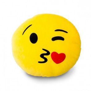 Coussin Emoticône smiley Bisous