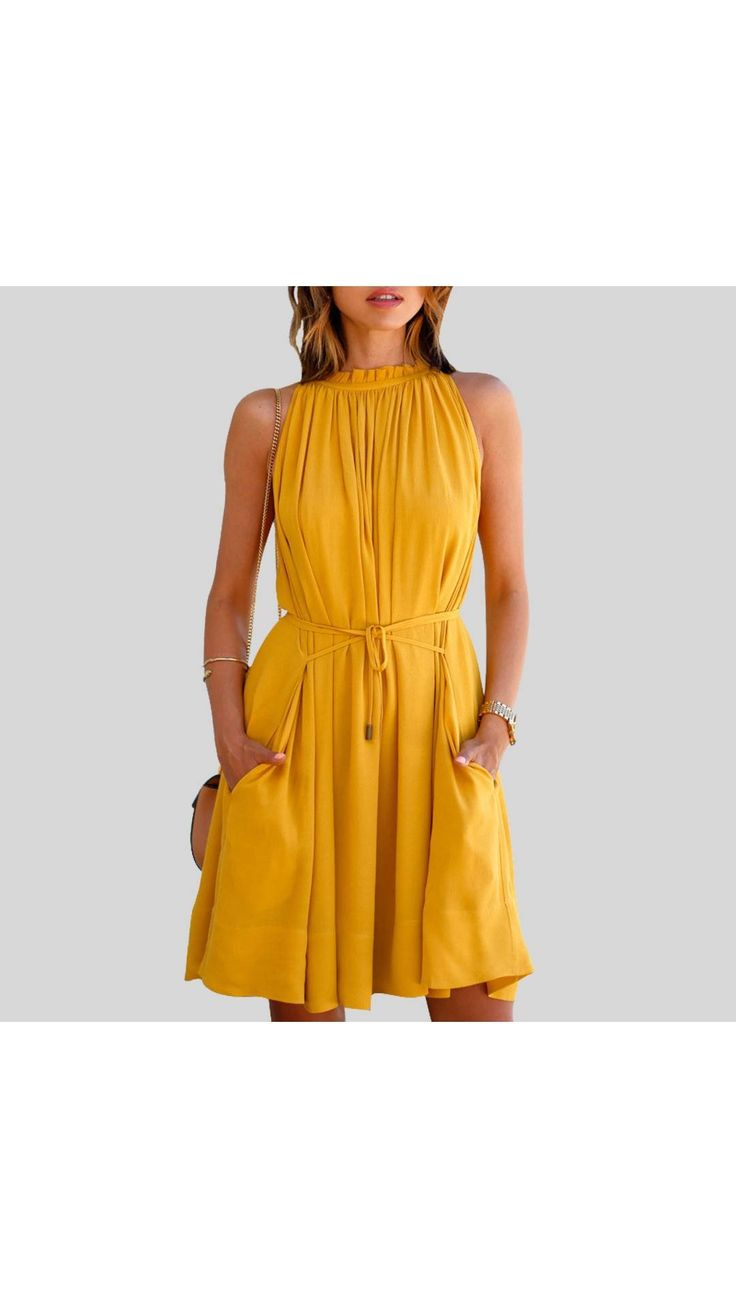 Paytmmall.com - Buy Yellow plain crepe western dress for girls online at best prices in India on Paytmmall.com