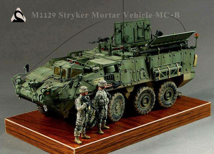 M1129 Stryker Mortar Vehicle MC-B 1/35 Scale Model