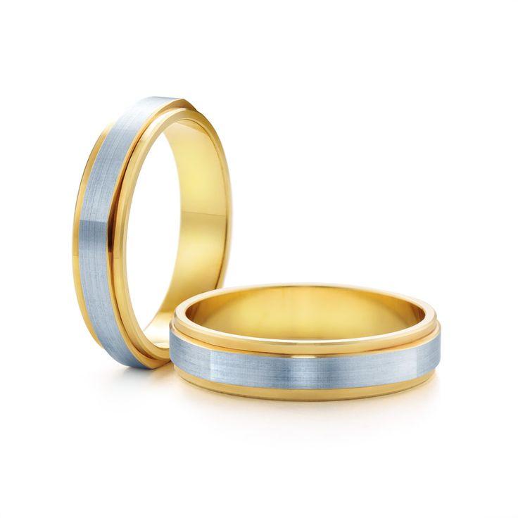 SAVICKI - Obrączki ślubne: Obrączki z dwukolorowego złota (Nr 211) - Biżuteria od 1976 r.