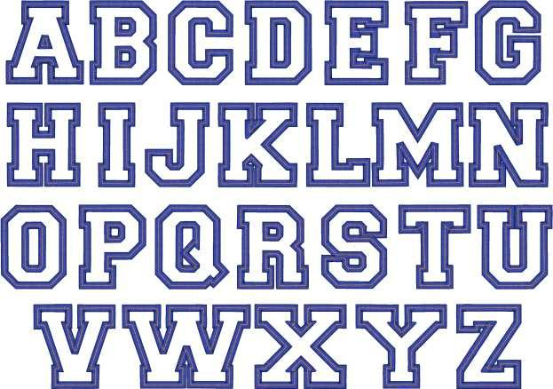 Block Letter Font With Outline Letter Lettering Fonts Block