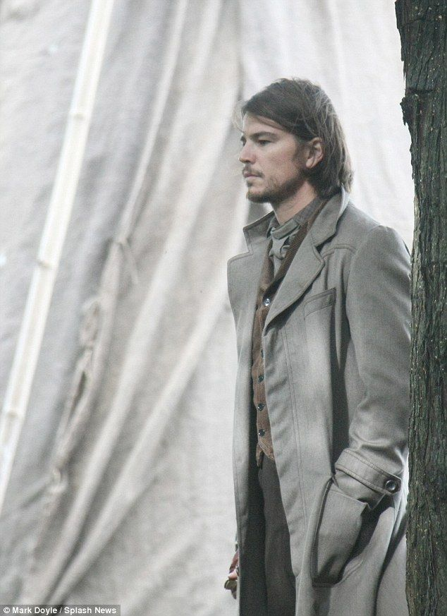"Still yummy - Josh Hartnett on the set of ""Penny Dreadful"" in county Dublin, Ireland"
