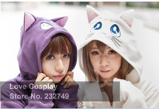 Cheap coats machines, Buy Quality jacket letter directly from China coated glass Suppliers:  Japanese Anime Sailor Moon Cosplay Costume Cat Luna Zipper Hoody Hoodies Cartoon Sweatshirt Jacket Winter Coat For