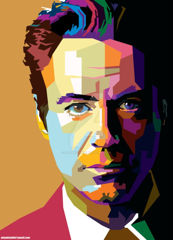 Robert Downey Jr. in Wedha's Pop Art Portrait WPAP by AdamKhabibi