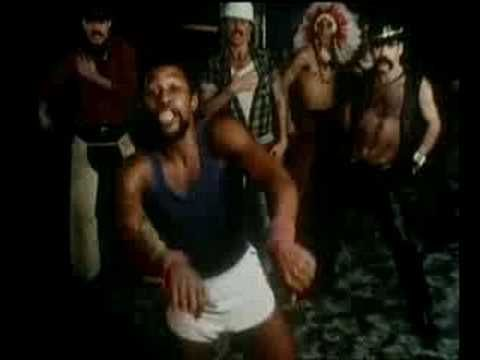 The Village People - Macho Man - This video cracks me up, with the tube socks, hairy armpits and self hugging trying to be sexy. Was this hot stuff when it came out, or more like that awkward Olivia Newton John video trying to be hot?