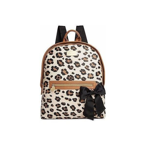 Betsey Johnson Quilted Backpack Animal Print ❤ liked on Polyvore featuring bags, backpacks, daypack bag, quilted bag, betsey johnson bags, rucksack bags and animal print backpacks