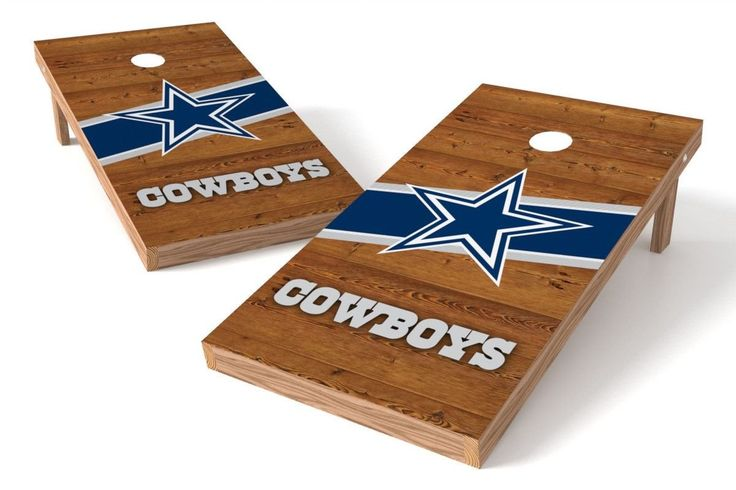 Dallas Cowboys Cornhole Board Set - Logo (w/Bluetooth Speakers)