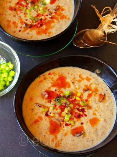 Garlic Mushroom Soup with Hot Oil | Recipes - Soups | Pinterest