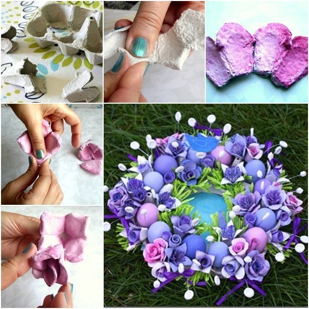Image result for make egg carton flowers