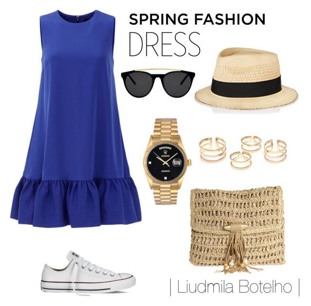 Untitled #49 by liudmila-botelho on Polyvore featuring polyvore fashion style Cynthia Rowley Converse Skemo Rolex Eugenia Kim Smoke & Mirrors clothing
