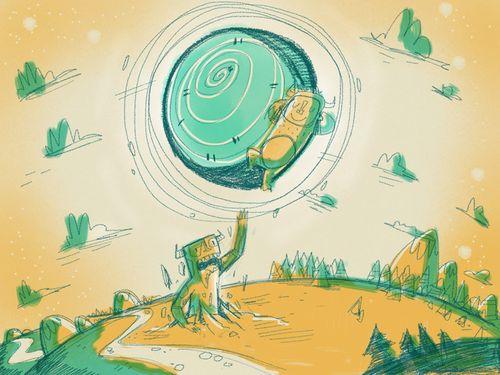 Moon Sleeper: ipad concept sketch