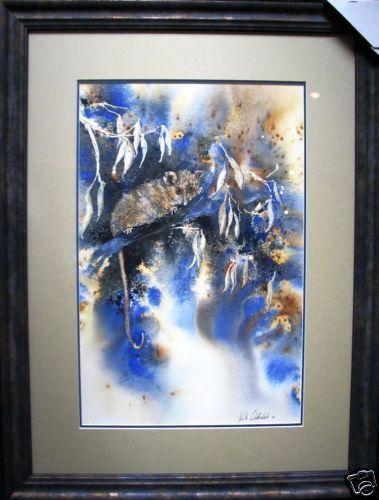Kate Websdale original  Possum in Tree  Australian Watercolour