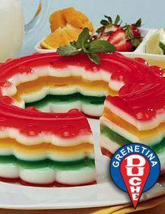 Rainbow Wreath Gelatin Cake