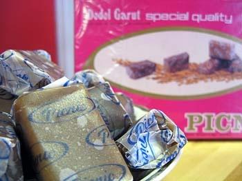 Dodol Garut. (toffee-like sweet food from Garut, West Java)