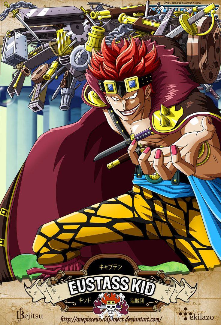 One Piece - Eustass Kid by OnePieceWorldProject