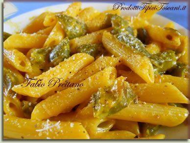 Pennette peperoni verdi e zafferano | Ricetta con pasta