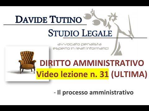 Diritto Amministrativo Video lezione n.31 (ULTIMA): Il processo amminist...