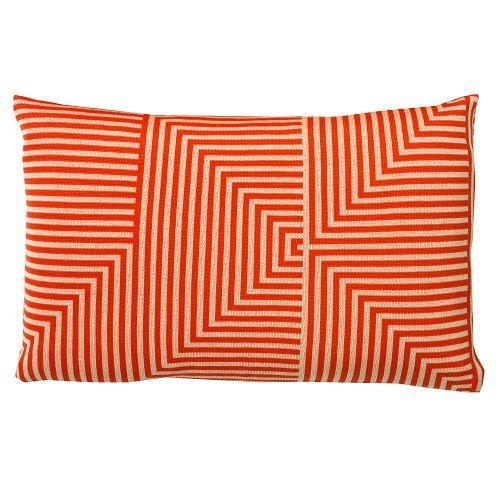Sen Sen Nanna D strik pude, orange/hvid.