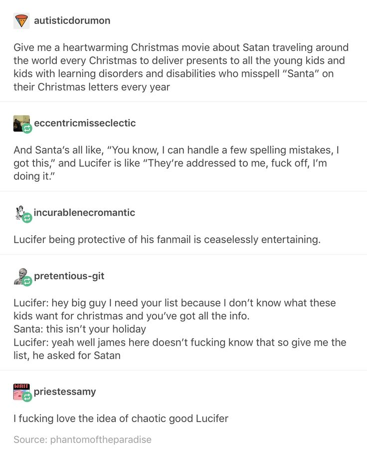And he would probably over do it so much, like this kid asked for a pony and Santa wanted to give him a plushy? Fuck that, here's a real horse and a stable, you're welcome. And the parents would be so upset but the kid would be so freakin happy