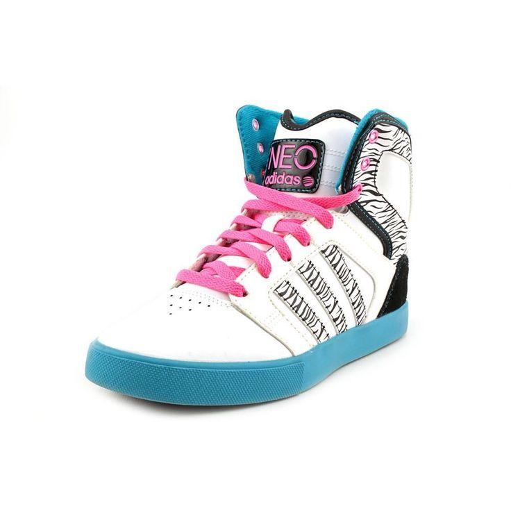 Adidas BBneo Hitop Womens White Sneakers #adidas #FashionSneakers