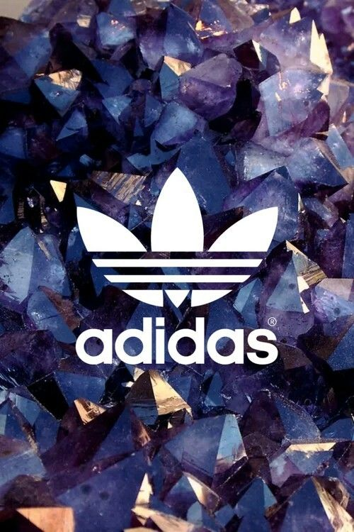 Adidas logo wallpaper gold