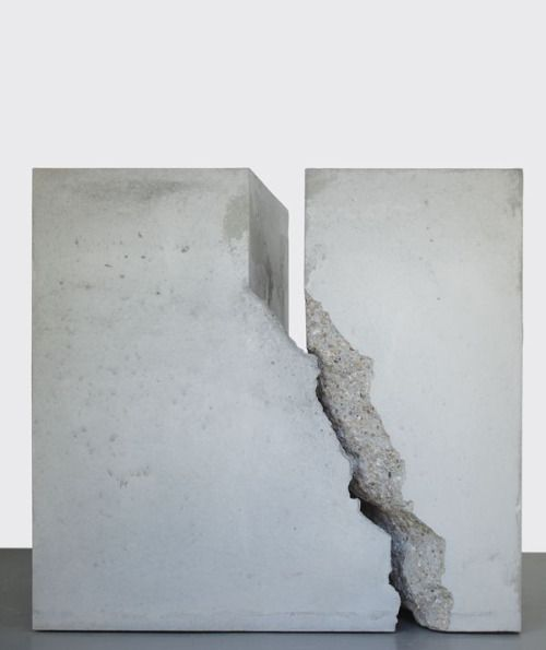 "vjeranski:  CHRISTOPH WEBER, UNTITLED (COUNTERPART) 2012: ""concrete, with concrete, against concrete and in spite of concrete."""
