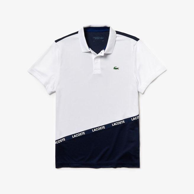 Polo Lacoste Sport En Pique Respirant Color Block Avec Bande Signature Lacoste Polo Shirt Design Lacoste Sport Lacoste