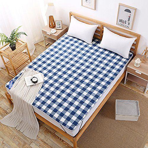 Dulplay 100 Cotton Mattress Topper Tatami Floor Mat Soft Foldable Student Non Slip Mattress Bed Microfibre Double Bed Size Folding Mattress Mattress Bed Sizes
