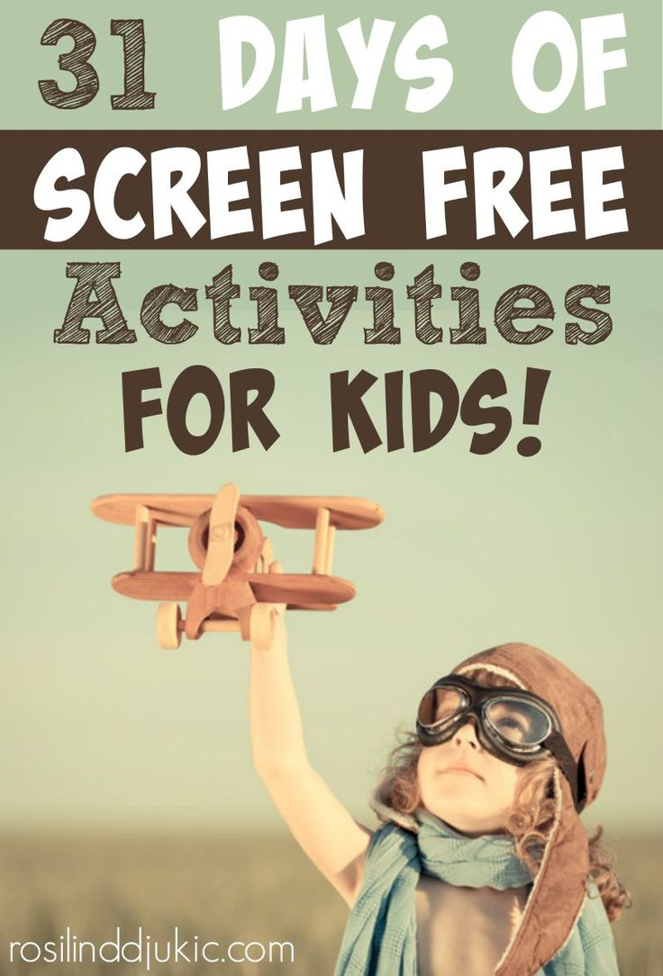 Here are 31 days of screen free activities for your children to help them build physical activity, creativity and imagination!