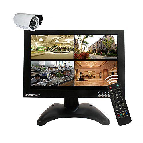 From 61.59:MonkeyCity 10.1 Inch 1280x800 IPS CCTV Monitor with BNC HDMI VGA AV USB