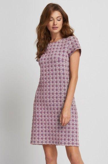 Żakardowa sukienka o linii A
