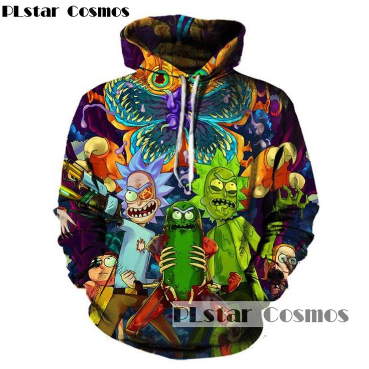 Women/Men Fashion Hip Hop 3D Cartoon Rick and Morty Hoodie //Price: $36.45 & FREE Shipping //     #3dhoodie