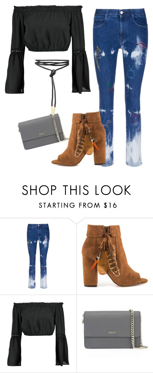 """""""Little bit of both"""" by ellediva2014 ❤ liked on Polyvore featuring STELLA McCARTNEY, Jessica Simpson, Boohoo and DKNY"""
