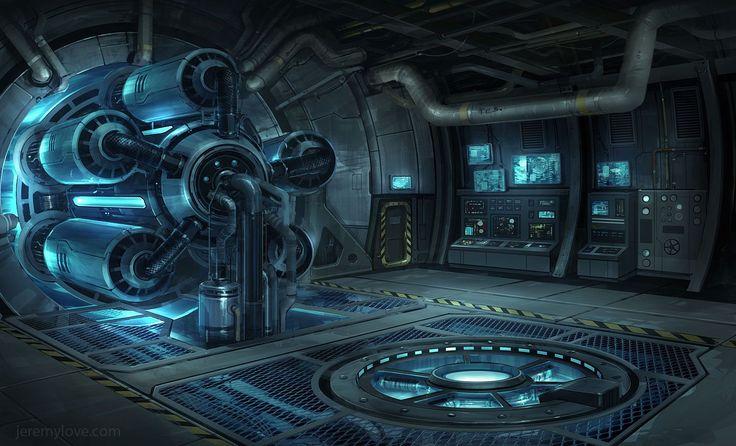 Картинки по запросу sci fi workshop interior