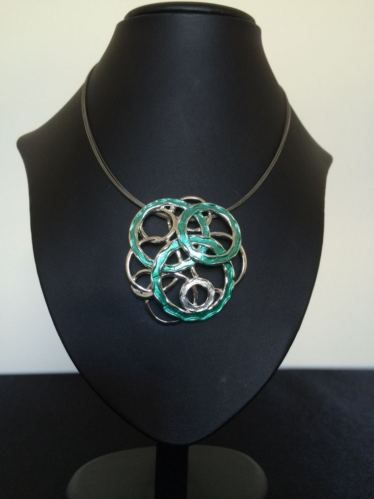 Unique Fashion Jewellery Australia - Turquoise and Silver Loops Necklace, $47.00 (http://www.uniquefashionjewellery.com/turquoise-and-silver-loops-necklace/)