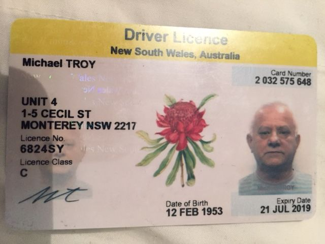 New South Wales Australia Driver License