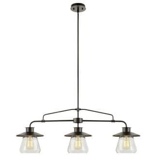 Angela 3-light Black Steel 40-inch Edison Chandelier with Bulbs   Overstock.com Shopping - The Best Deals on Chandeliers & Pendants