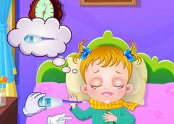 JuegosdeHazel.com - Juego: Estoy Enferma - Jugar Juegos Nuevos de Bebe Hazel Gratis Online
