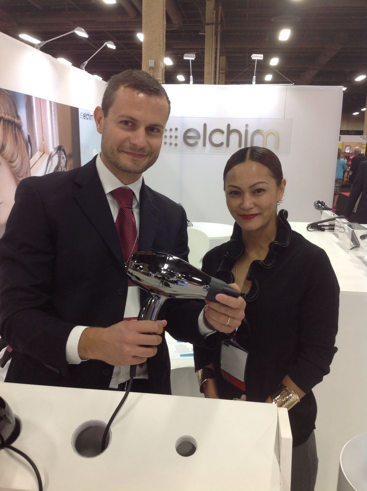 Cosmoprof Las Vegas July 2014. Luca Sabbatini presents Elchim 3900 Titanium, a real jewel dedicated to hairstylists