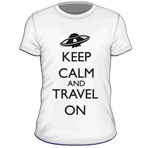 Maglietta personalizzata Keep Calm and Travel On